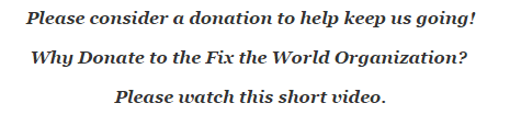 donate to the fix the world organization