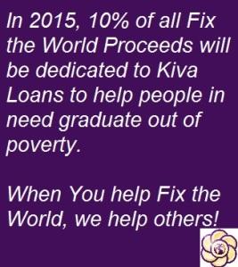 10 percent donated to kiva loans