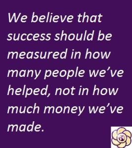 we believe success is measured